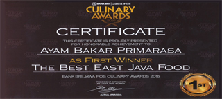 Culinary Awards - First Winner - The Best Indonesian Restaurant